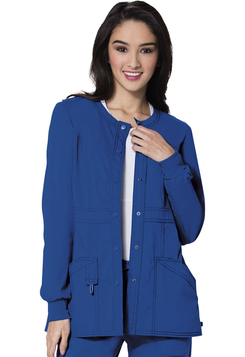 Code Happy Code Happy Bliss Women's Snap Front Warm-up Jacket Blue