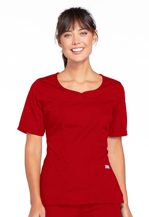 WW Originals Women V-Neck Top Red