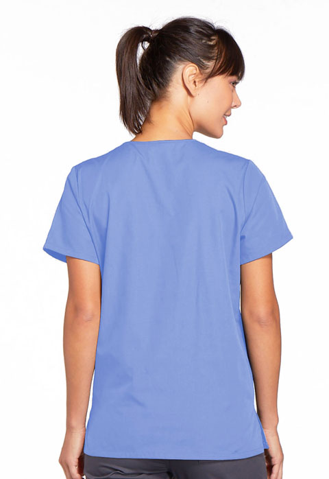 Photograph of Snap Front V-Neck Top
