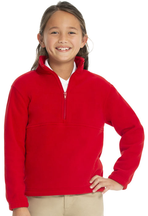 Classroom Child's Unisex Youth Unisex Polar Fleece Pullover Red