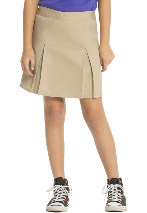 Real School Girl Pleat Front Scooter Khaki