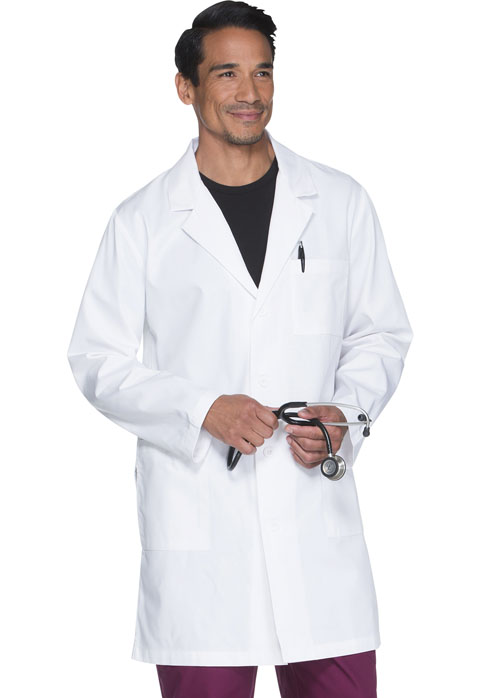 ScrubStar Men's Men's 38 Long Lab Coat White