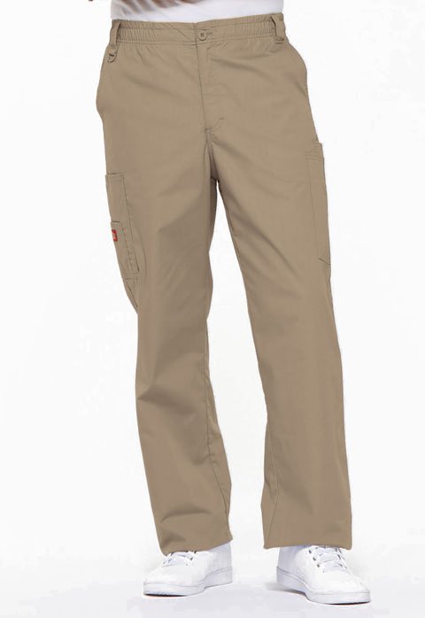 Dickies EDS Signature Men's Zip Fly Pull-On Pant in Dark Khaki