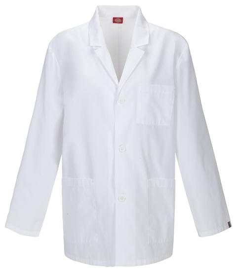 "Dickies Dickies Prof. Whites Men's 31"" Men's Lab Coat White"