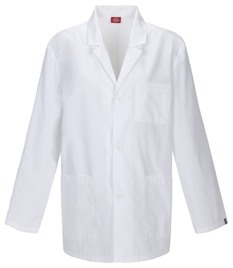 "Dickies Professional Whites 31"" Men's Lab Coat in White"