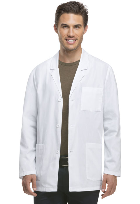 "Dickies Professional Whites 31"" Men's Consultation Lab Coat in White"