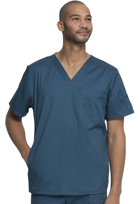 Dickies Gen Flex Men's V-Neck Top in Caribbean