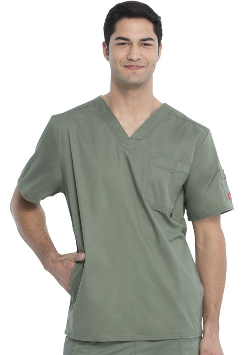 Dickies Gen Flex Men's V-Neck Top in Olive