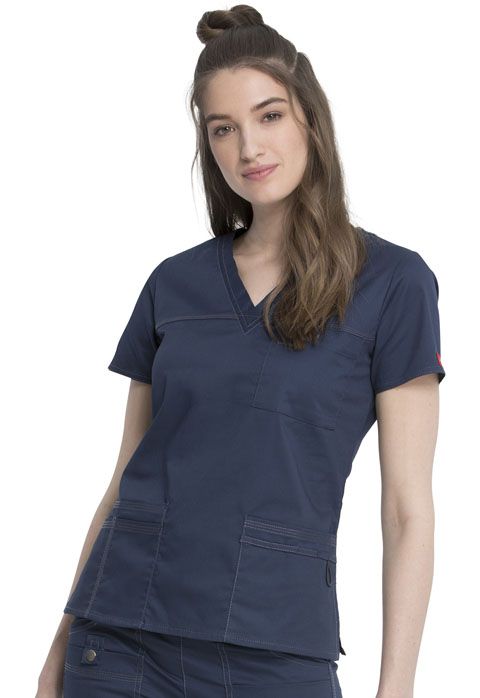 Dickies Gen Flex V-Neck Top in D-Navy