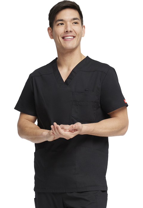Dickies EDS Signature Men's V-Neck Top in Black