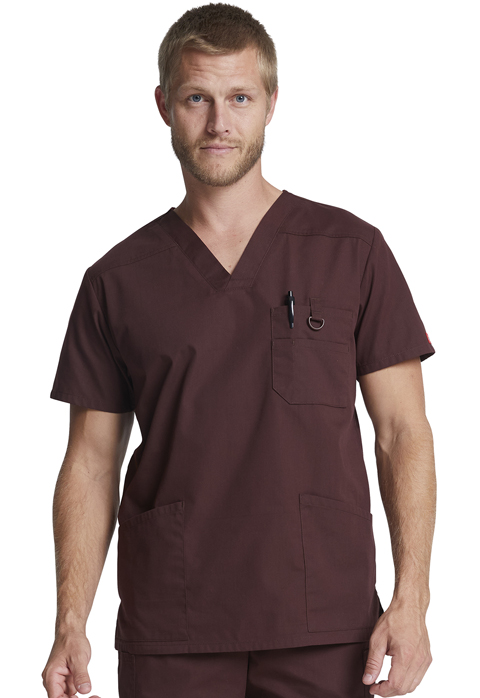 Dickies EDS Signature Men's V-Neck Top in Espresso