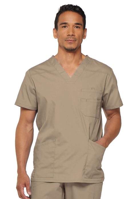 Dickies EDS Signature Men's V-Neck Top in Dark Khaki