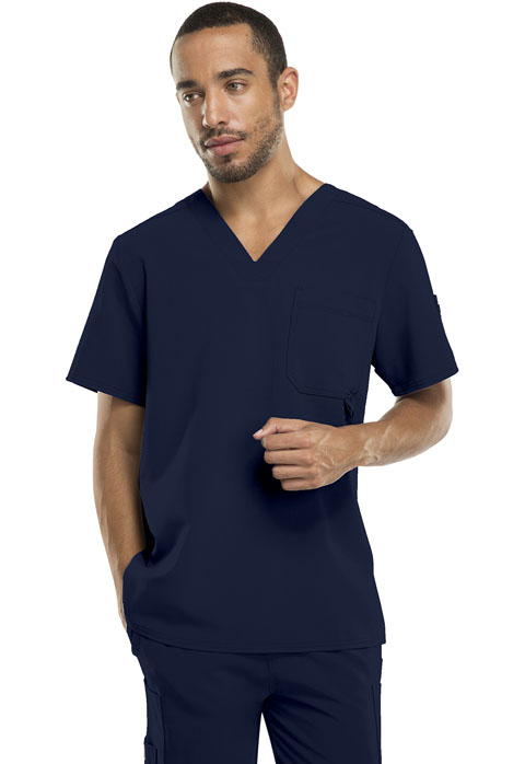 Dickies Xtreme Stretch Men's V-Neck Top in D-Navy