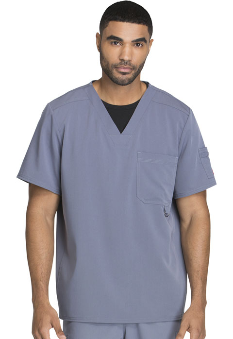 Dickies Xtreme Stretch Men's V-Neck Top in Light Pewter