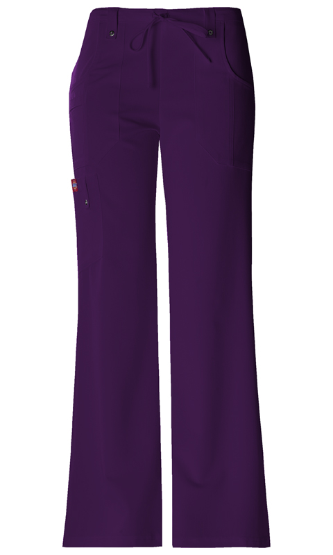 Dickies Xtreme Stretch Mid Rise Drawstring Cargo Pant in Eggplant