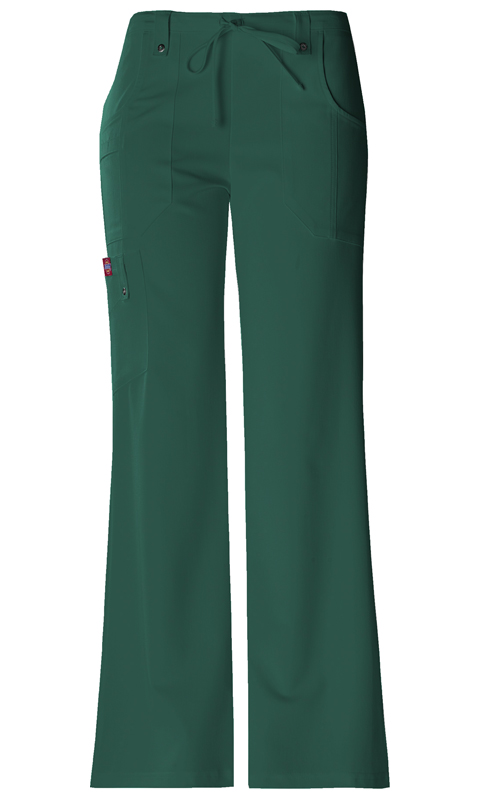 Dickies Xtreme Stretch Mid Rise Drawstring Cargo Pant in Hunter
