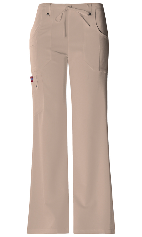 Dickies Xtreme Stretch Mid Rise Drawstring Cargo Pant in Dark Khaki