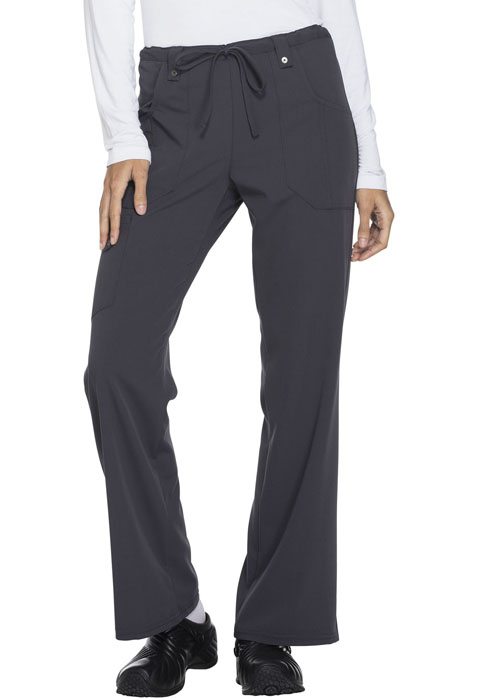 Xtreme Stretch Women's Mid Rise Drawstring Cargo Pant Gray