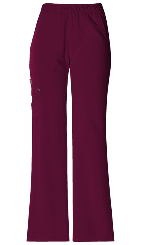 Xtreme Stretch Women's Mid Rise Pull-On Cargo Pant Red