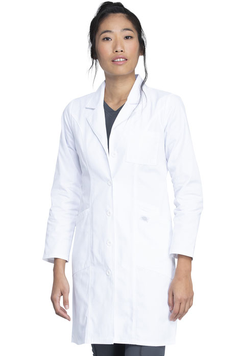 "Dickies Professional Whites 37"" Lab Coat in White"
