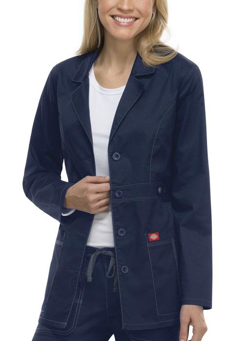 "Dickies Dickies Gen Flex Women's 28"" Lab Coat Blue"