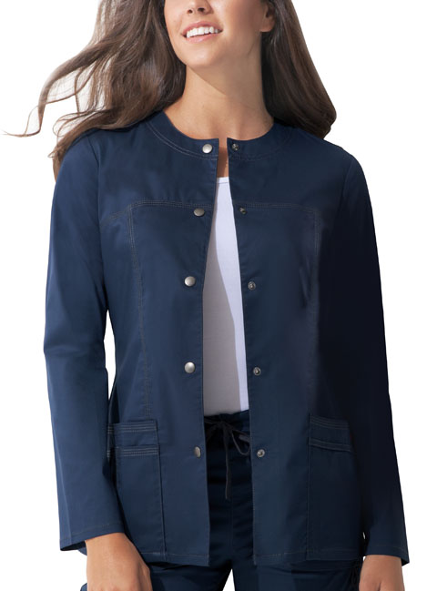Dickies Dickies Gen Flex Women's Snap Front Warm-Up Jacket Blue