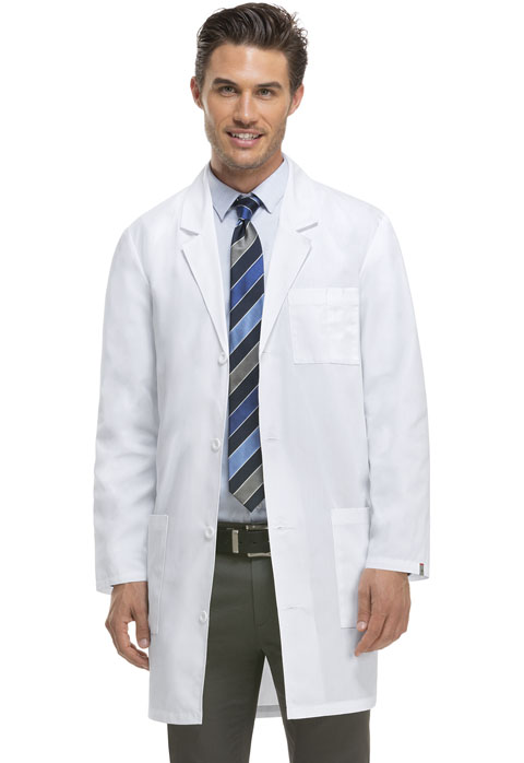 "Dickies Professional Whites 37"" Unisex Lab Coat in White"
