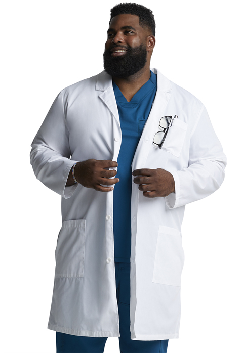 "Dickies Professional Whites 40"" Unisex Lab Coat in White"