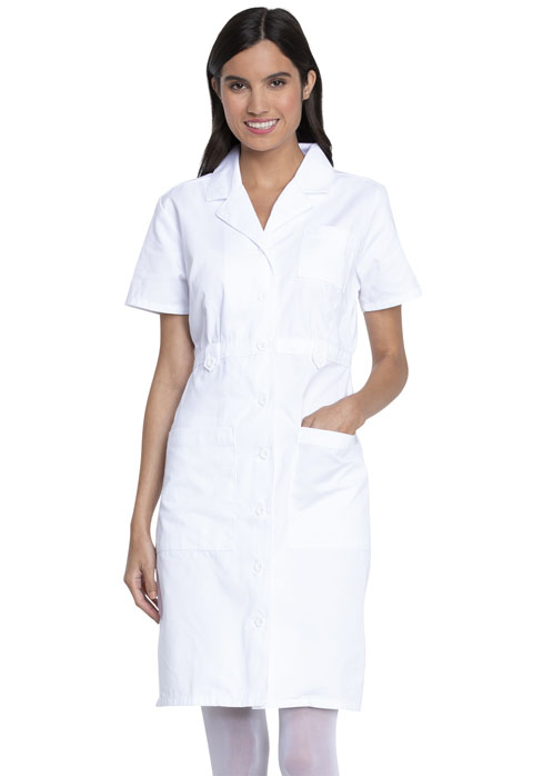 Dickies Professional Whites Button Front Dress in White