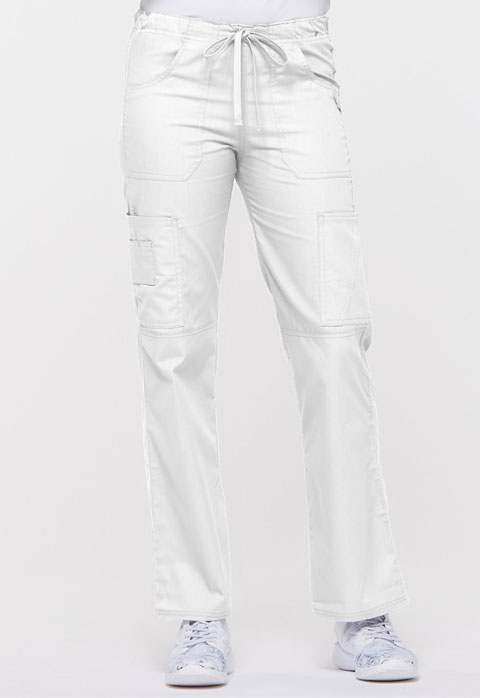 EDS Signature Women's Low Rise Drawstring Cargo Pant White