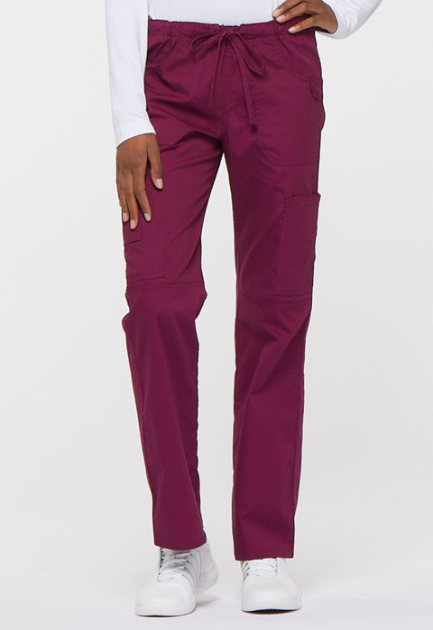 EDS Signature Women's Low Rise Drawstring Cargo Pant Red