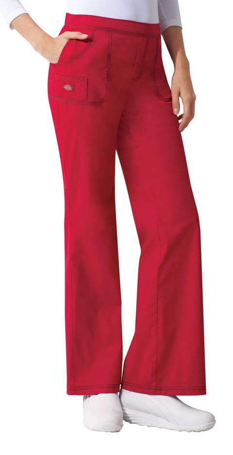 Dickies Gen Flex Mid Rise Pull-On Pant in Crimson
