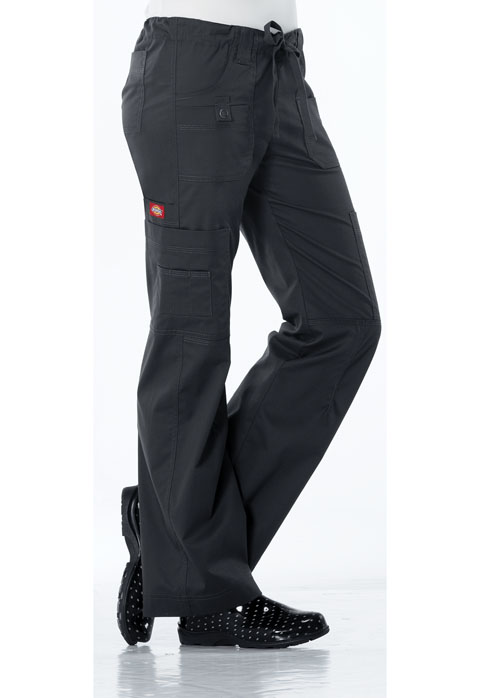 Dickies Gen Flex Low Rise Drawstring Cargo Pant in Dark Pewter