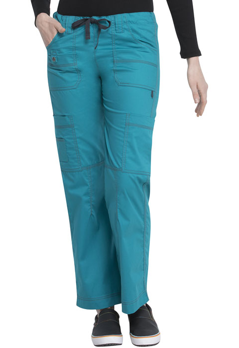 Dickies Gen Flex Low Rise Drawstring Cargo Pant in Teal