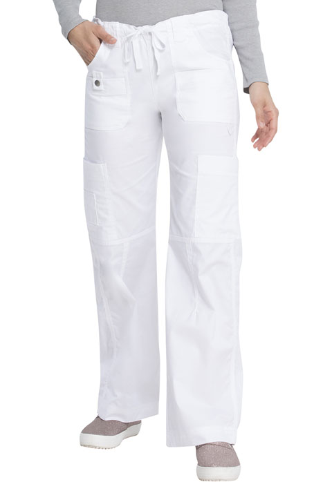 Dickies Gen Flex Low Rise Drawstring Cargo Pant in White