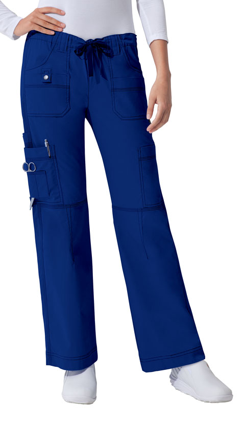 Dickies Gen Flex Low Rise Drawstring Cargo Pant in Galaxy Blue