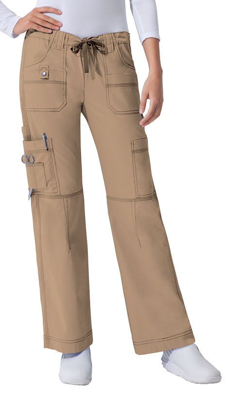 Dickies Gen Flex Low Rise Drawstring Cargo Pant in Dark Khaki