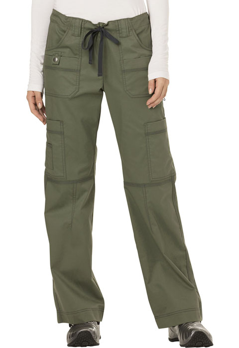 Dickies Gen Flex Low Rise Drawstring Cargo Pant in Olive
