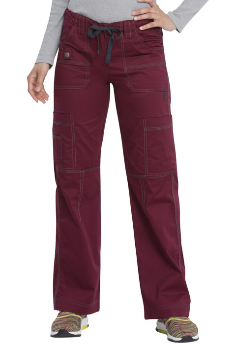 Dickies Gen Flex Low Rise Drawstring Cargo Pant in D-Wine