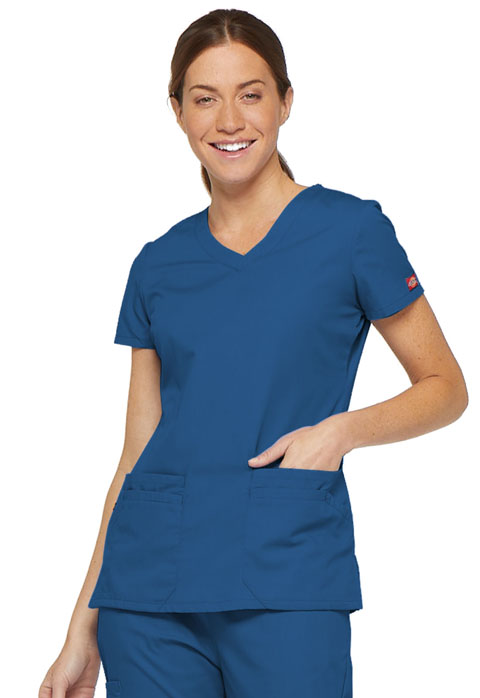 Dickies Dickies EDS Signature Women's V-Neck Top Blue