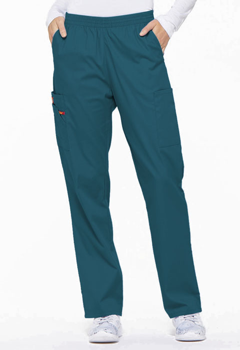 Dickies EDS Signature Natural Rise Tapered Leg Pull-On Pant in Caribbean Blue