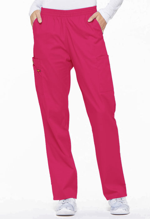 EDS Signature Women's Natural Rise Tapered Leg Pull-On Pant Pink