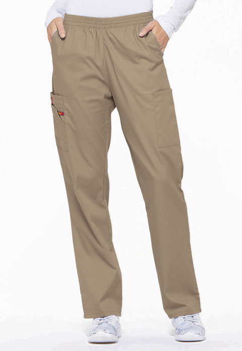 Dickies EDS Signature Natural Rise Tapered Leg Pull-On Pant in Dark Khaki