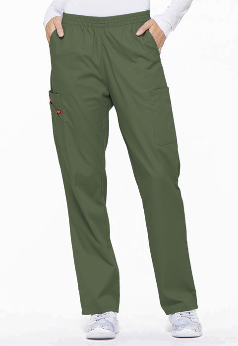 Dickies EDS Signature Natural Rise Tapered Leg Pull-On Pant in Olive