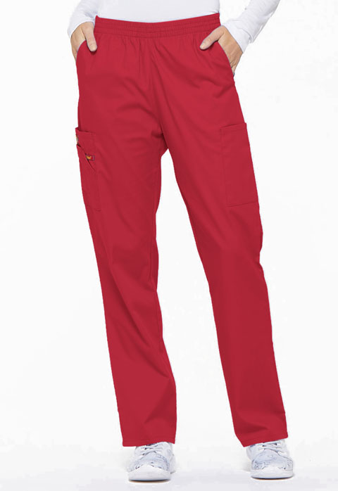 Dickies EDS Signature Natural Rise Tapered Leg Pull-On Pant in Red