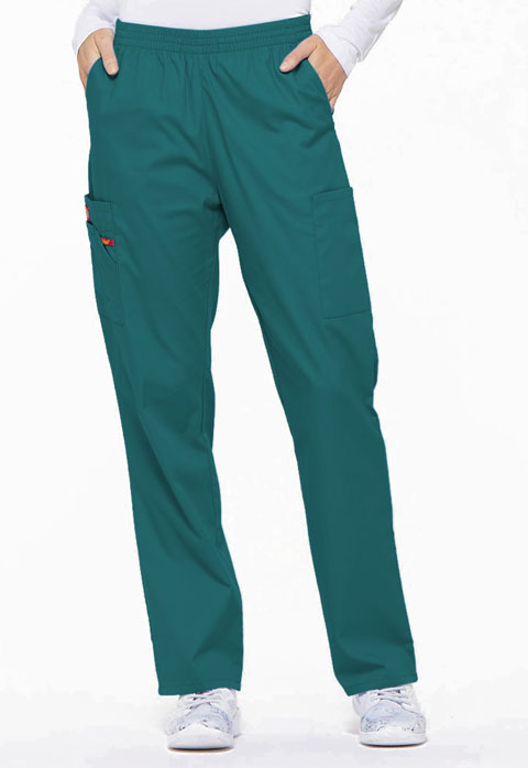 Dickies EDS Signature Natural Rise Tapered Leg Pull-On Pant in Teal Blue