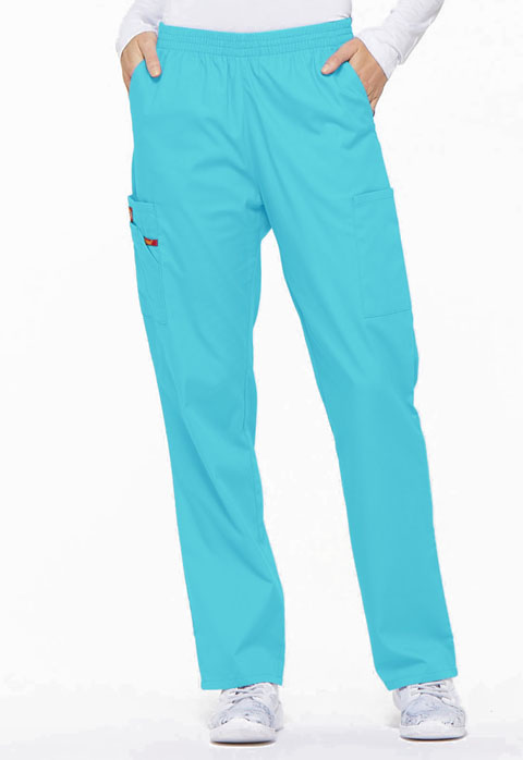 Dickies EDS Signature Natural Rise Tapered Leg Pull-On Pant in Turquoise