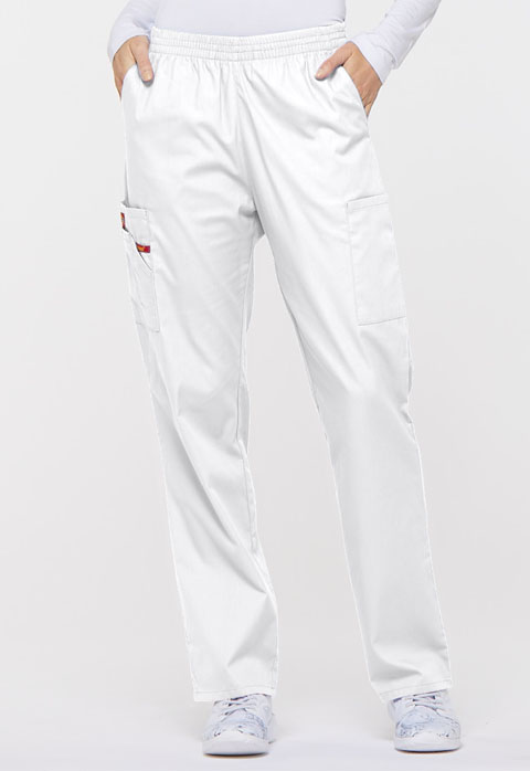 Dickies EDS Signature Natural Rise Tapered Leg Pull-On Pant in White
