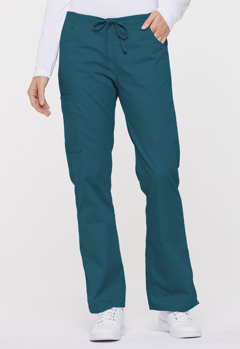 Dickies EDS Signature Mid Rise Drawstring Cargo Pant in Caribbean Blue