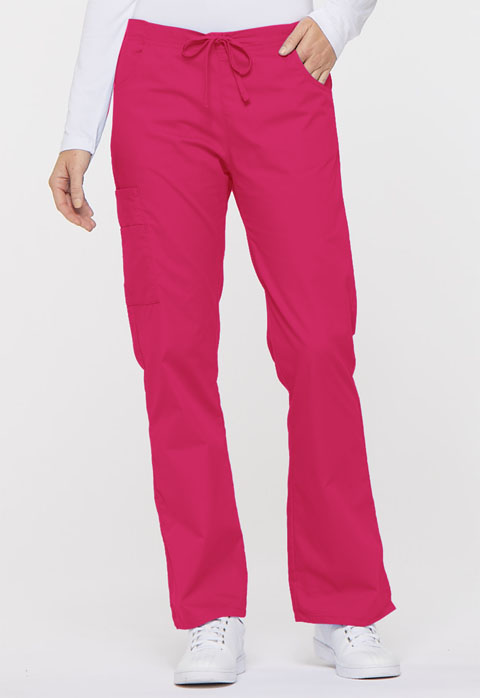 Dickies EDS Signature Mid Rise Drawstring Cargo Pant in Hot Pink